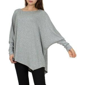 CONVERSE Batwing Sleeve Loose Blouse Top T-shirt M
